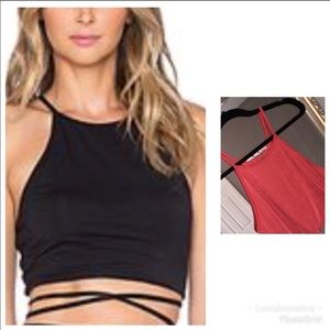 Lovers + Friends tie waist Crop top